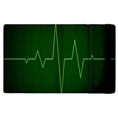Heart Rate Green Line Light Healty Apple Ipad Pro 12 9   Flip Case by Mariart