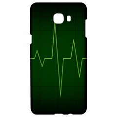 Heart Rate Green Line Light Healty Samsung C9 Pro Hardshell Case  by Mariart