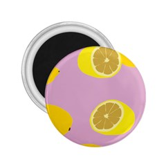 Fruit Lemons Orange Purple 2 25  Magnets by Mariart