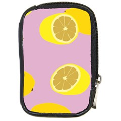 Fruit Lemons Orange Purple Compact Camera Cases by Mariart