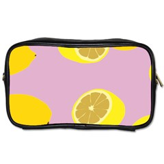 Fruit Lemons Orange Purple Toiletries Bags