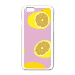 Fruit Lemons Orange Purple Apple Iphone 6/6s White Enamel Case by Mariart
