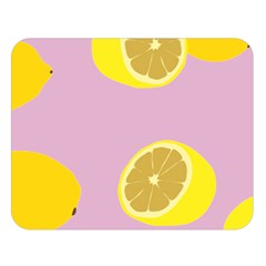 Fruit Lemons Orange Purple Double Sided Flano Blanket (large)  by Mariart