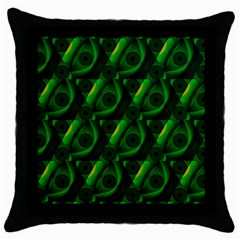 Green Eye Line Triangle Poljka Throw Pillow Case (black) by Mariart
