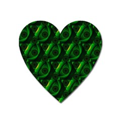 Green Eye Line Triangle Poljka Heart Magnet by Mariart