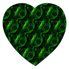 Green Eye Line Triangle Poljka Jigsaw Puzzle (heart) by Mariart