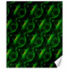 Green Eye Line Triangle Poljka Canvas 8  X 10  by Mariart