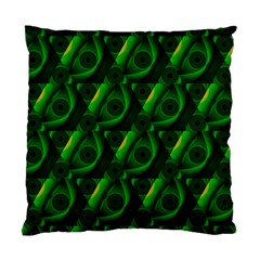 Green Eye Line Triangle Poljka Standard Cushion Case (two Sides) by Mariart