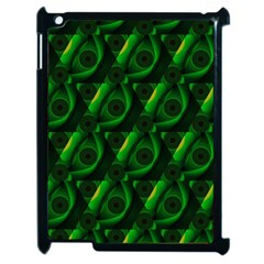 Green Eye Line Triangle Poljka Apple Ipad 2 Case (black) by Mariart