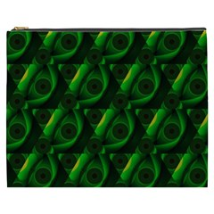 Green Eye Line Triangle Poljka Cosmetic Bag (xxxl)  by Mariart