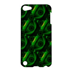 Green Eye Line Triangle Poljka Apple Ipod Touch 5 Hardshell Case by Mariart