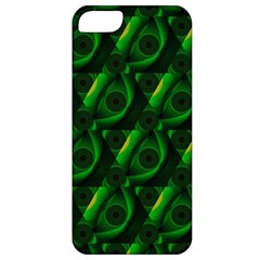 Green Eye Line Triangle Poljka Apple Iphone 5 Classic Hardshell Case by Mariart