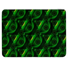 Green Eye Line Triangle Poljka Samsung Galaxy Tab 7  P1000 Flip Case by Mariart