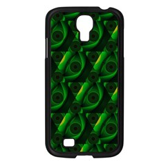 Green Eye Line Triangle Poljka Samsung Galaxy S4 I9500/ I9505 Case (black) by Mariart