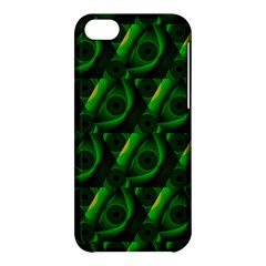 Green Eye Line Triangle Poljka Apple Iphone 5c Hardshell Case by Mariart