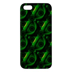 Green Eye Line Triangle Poljka Iphone 5s/ Se Premium Hardshell Case by Mariart