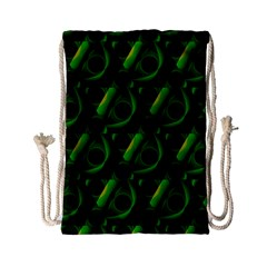 Green Eye Line Triangle Poljka Drawstring Bag (small)