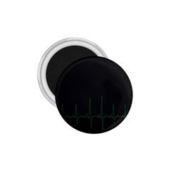 Heart Rate Line Green Black Wave Chevron Waves 1 75  Magnets by Mariart