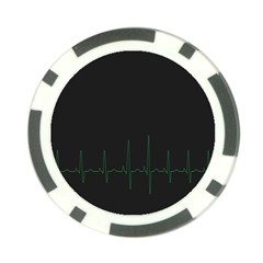 Heart Rate Line Green Black Wave Chevron Waves Poker Chip Card Guard (10 Pack) by Mariart