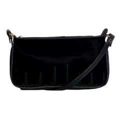 Heart Rate Line Green Black Wave Chevron Waves Shoulder Clutch Bags by Mariart