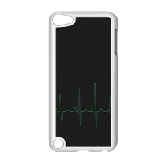 Heart Rate Line Green Black Wave Chevron Waves Apple Ipod Touch 5 Case (white) by Mariart