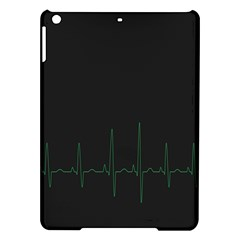 Heart Rate Line Green Black Wave Chevron Waves Ipad Air Hardshell Cases by Mariart