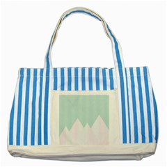 Montain Blue Snow Chevron Wave Pink Striped Blue Tote Bag by Mariart