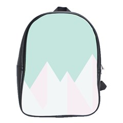 Montain Blue Snow Chevron Wave Pink School Bags(large)  by Mariart