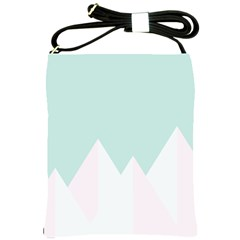 Montain Blue Snow Chevron Wave Pink Shoulder Sling Bags