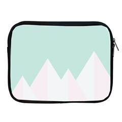 Montain Blue Snow Chevron Wave Pink Apple Ipad 2/3/4 Zipper Cases by Mariart