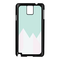 Montain Blue Snow Chevron Wave Pink Samsung Galaxy Note 3 N9005 Case (black) by Mariart