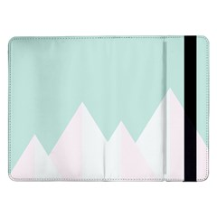 Montain Blue Snow Chevron Wave Pink Samsung Galaxy Tab Pro 12 2  Flip Case by Mariart