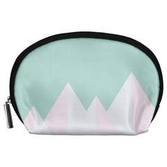 Montain Blue Snow Chevron Wave Pink Accessory Pouches (large)  by Mariart