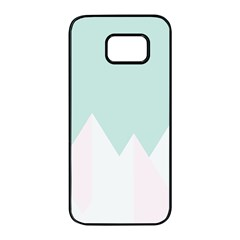 Montain Blue Snow Chevron Wave Pink Samsung Galaxy S7 Edge Black Seamless Case by Mariart