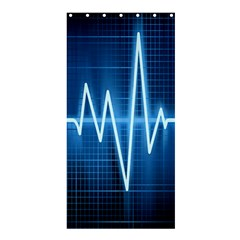 Heart Monitoring Rate Line Waves Wave Chevron Blue Shower Curtain 36  X 72  (stall)  by Mariart