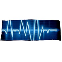 Heart Monitoring Rate Line Waves Wave Chevron Blue Body Pillow Case (dakimakura) by Mariart
