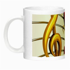 Music Notes Heart Beat Night Luminous Mugs by Mariart
