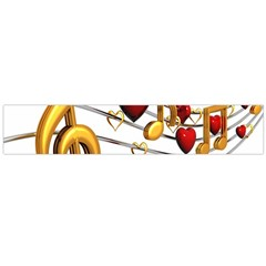 Music Notes Heart Beat Flano Scarf (large) by Mariart