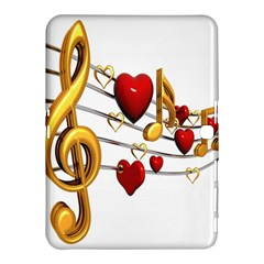 Music Notes Heart Beat Samsung Galaxy Tab 4 (10 1 ) Hardshell Case  by Mariart