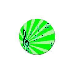 Music Notes Light Line Green Golf Ball Marker (4 Pack) by Mariart