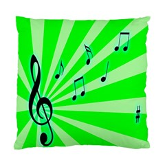 Music Notes Light Line Green Standard Cushion Case (two Sides)