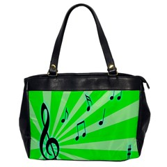 Music Notes Light Line Green Office Handbags by Mariart