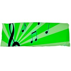 Music Notes Light Line Green Body Pillow Case Dakimakura (two Sides) by Mariart