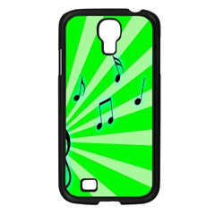 Music Notes Light Line Green Samsung Galaxy S4 I9500/ I9505 Case (black) by Mariart
