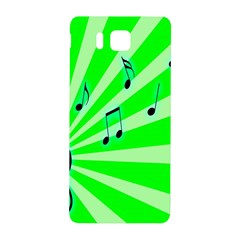 Music Notes Light Line Green Samsung Galaxy Alpha Hardshell Back Case by Mariart