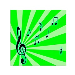 Music Notes Light Line Green Small Satin Scarf (square) by Mariart