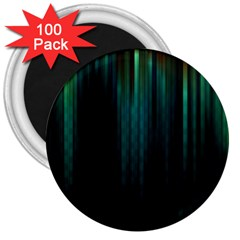 Lines Light Shadow Vertical Aurora 3  Magnets (100 Pack) by Mariart