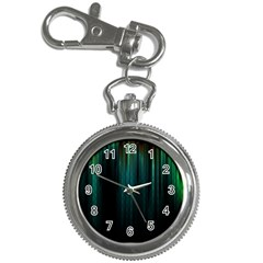 Lines Light Shadow Vertical Aurora Key Chain Watches by Mariart