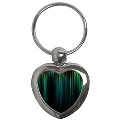 Lines Light Shadow Vertical Aurora Key Chains (heart)  by Mariart