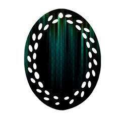 Lines Light Shadow Vertical Aurora Ornament (oval Filigree)
